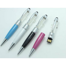 Crystal Metal Touch Pen Wirth USB Drive