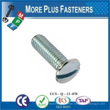 Made in Taiwan ISO 2010 Slotted Raised Countersunk Oval Head Machine Screw Low Carbon Steel Zinc Plated
