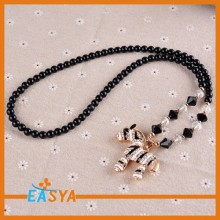 Wholesale Hot Sale Zebra Shape Rhinestone Pendant Necklaces