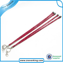 Top Quality Rhinestone Lanyard with Key Ring