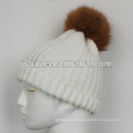 2015 Handmade Wool Knit Beanie Scarves Sets Heavy Knit Fur Hat and Scarf