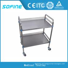 SF-3731 Carro médico de uso hospitalario de acero inoxidable