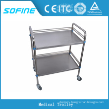 SF-3731 Hospital use stainless steel medical trolley