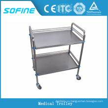 SF-3731 Больничная медицинская тележка из нержавеющей стали