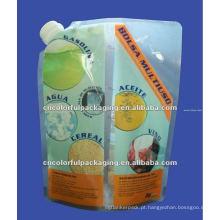 malote reusável do alimento para o comida para bebé com os sacos de plástico do reforço do fechamento do bico / fecho de correr