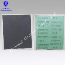 Papel impermeável da areia do óxido de alumínio abrasivo preto da promoção 230 * 280mm