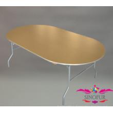 Овальный деревянный обеденный стол / складной стол для банкета / банкетные столы на продажу