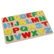 Crianças de madeira alfabeto capital letter puzzle brinquedo educativo