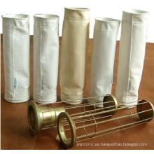 Resistente a ácidos y álcalis Ss Acero inoxidable Organosilicone filtro de bolsa marco