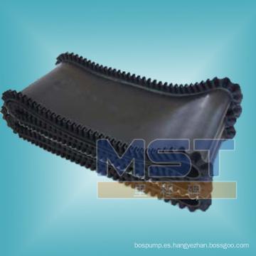 Banda transportadora de goma del modelo para el uso vertical