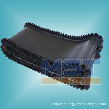 Pattern rubber conveyor belt for vertical use
