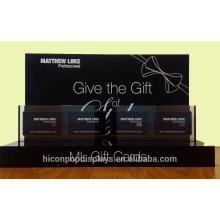 Aumente suas vendas e crie uma impressão duradoura Loja de varejo personalizado Suporte de exibição de cartão de presente acrílico preto