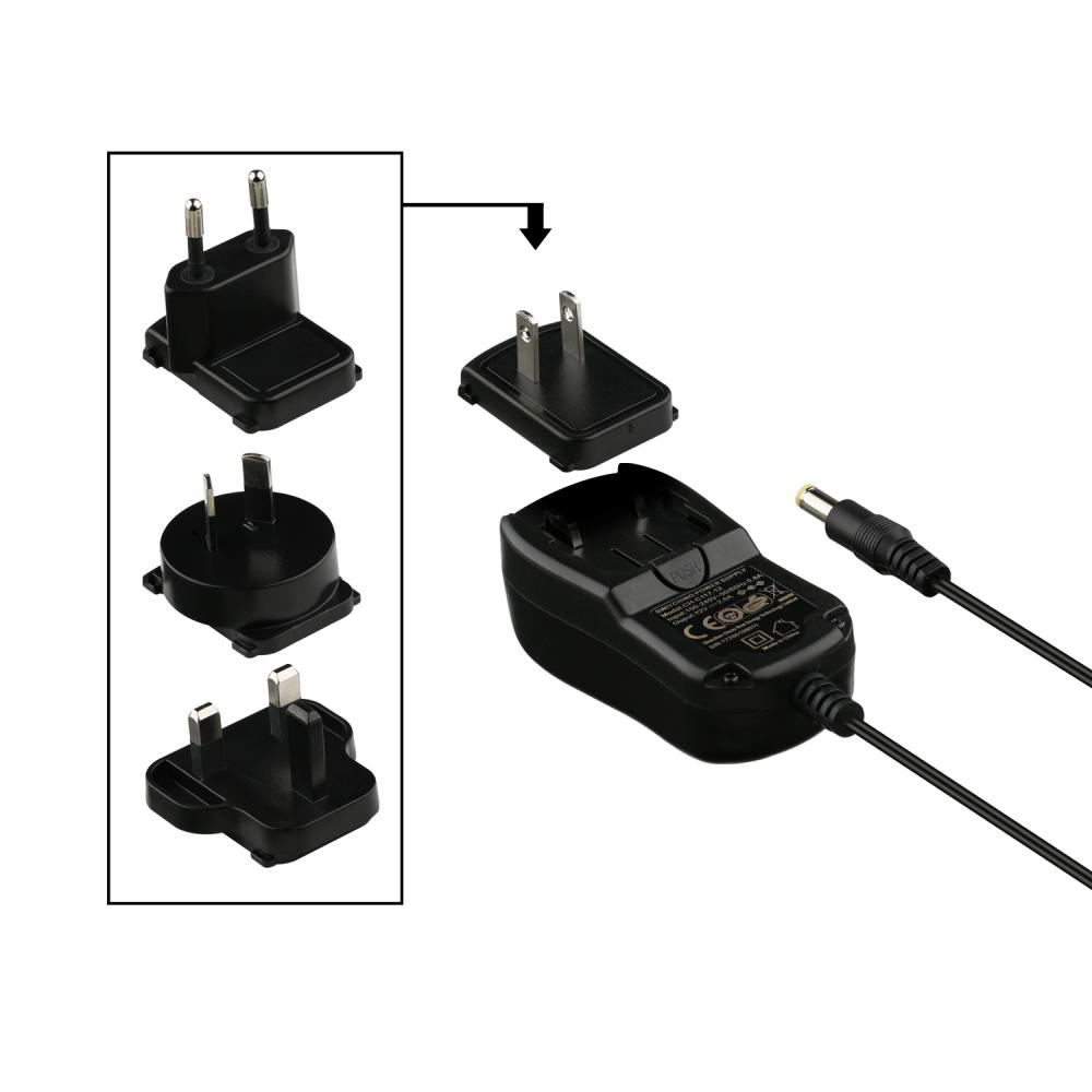 Adaptador de pared con enchufes convertibles