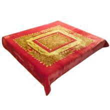 Color de oro popular impresión de flores de aire acondicionado manta