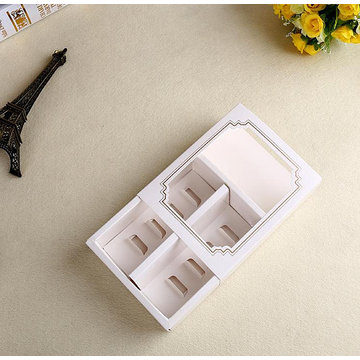 Drawer gift box with window for cakes