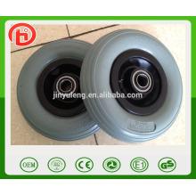 llanta plástica no plana de la rueda 200 50 pu, modelo verde de la línea de la rueda de la PU
