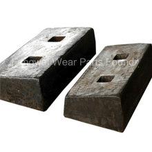 Manganês alto e placa de revestimento de moinho de bolas de cromo alto
