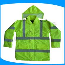 Suministros de seguridad para el trabajo use impermeables de seguridad con tiras reflectantes