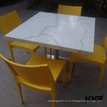 Mesa de granito real / mesa de comedor de mármol