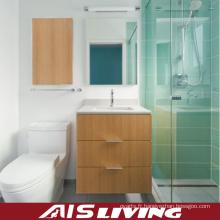 Meuble de salle de bains en placage petite vanité (AIS-B019)