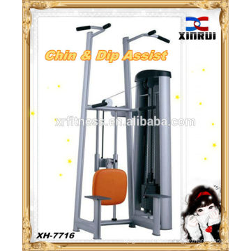 Hot Sale Chip & Dip Assist Fitness Equipment / assisted chin dip machine / Commercial Gym Equipment
