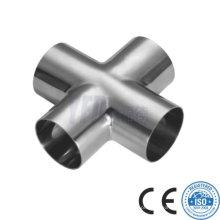Sanitária em aço inoxidável Pipe Fitting Equal Cross