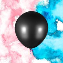 Gender Reveal Exploding 36 '' Jumbo Balloon Set (Polvo rosa y azul) Perfecto para el paquete de fiesta de niño o niña