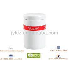 boîtes de cuisine en céramique avec bande de silicone pour thé, sucre ou café