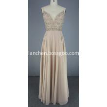 Deep V neck Beaded Dress For Prom Cocktail