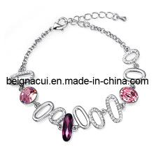 Sw Elements Cristal Rosa Cor Fresco Handmade Bracelet 2013