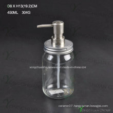 Economic Glass Bath Liquid Bottle with Pump Sprayer
