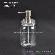 Econômico vidro banho líquido garrafa com bomba pulverizador