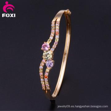 Wuzhou Foxi al por mayor de oro 18k brazaletes de moda de la joyería para las mujeres