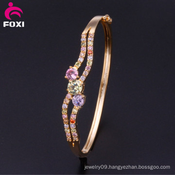 Wuzhou Foxi Wholesale 18k Gold Fashion Jewelry Bangles for Women