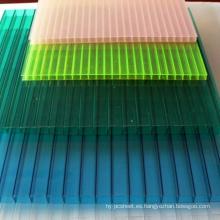Hoja de policarbonato hoja de múltiples muros hoja de techo tragaluz 10 años de garantía