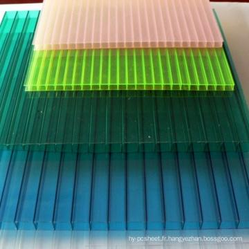 Feuilles de toiture de lucarne de feuille de Multiwall de feuille de polycarbonate 10 ans de garantie