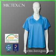 100% polyester short sleeve dry fit polo shirt design for women
