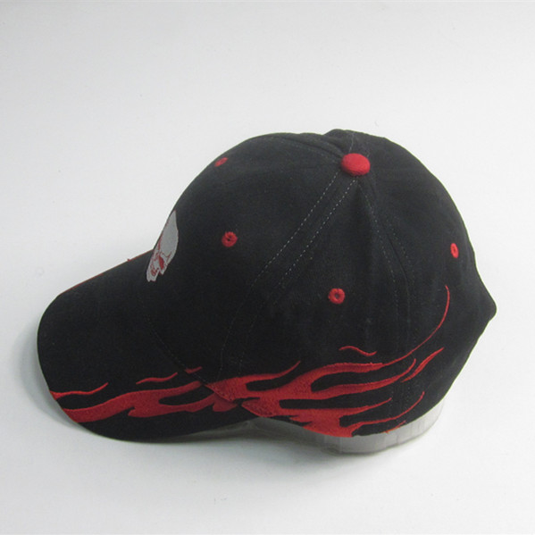 Hot Sale Flaming Embroidery Sport Cap