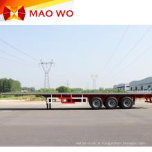 Semi-reboque Flatbed Container Profissional de 40 pés