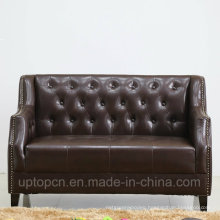 Modern Restaurant Furniture Booth with Rivets on Upholstered Edge (SP-KS355)