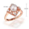 Perlas de agua dulce perfectamente redondas naturales anillos cuadrados retros S925 plata de ley para la joyería fina de compromiso de las mujeres