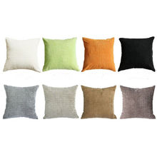 "18x18"" Office Decorative Velvet Sofa Pillows Custom White With 100% Polyester"