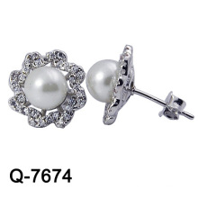 New Arrival 925 Sterlings Silver Jewelry Pearl Earring Studs