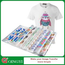Qingyi sérigraphie spectacle personnalisé autocollant de transfert de chaleur plastisol