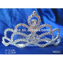 Grandes corantes de coroa de pérolas de tiara rosa de tiaras baratos