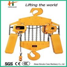 Palan à chaîne électrique 20 t fixé avec crochet