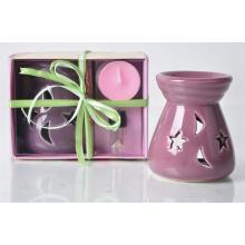 Bougie Parfumée avec Support Huile Essentielle