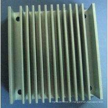 Dissipador de calor de liga de alumínio anodizado (usinagem CNC de alta Precsion)