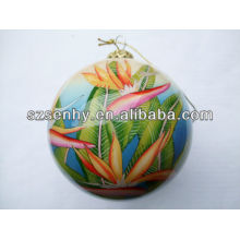 Hand Painted Glass Christmas Ball Ornament