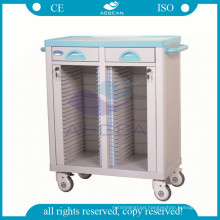 AG-CHT003 Double rows patient files holder hospital trolley